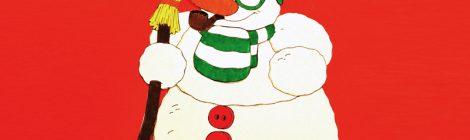 Il pupazzo di neve collage