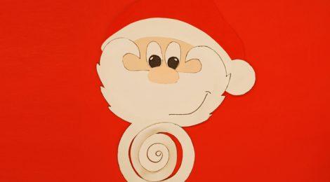 Un Babbo Natale da appendere